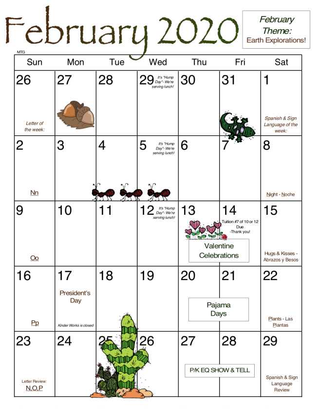February MTG Calendar